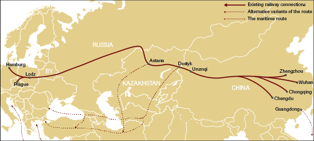 The New Silk Road A Versatile Instrument In Chinas Policy OSW - Us new silk road map