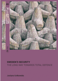 "Cover of the OSW Point of view ""Sweden's security. The long way towards total defence"""