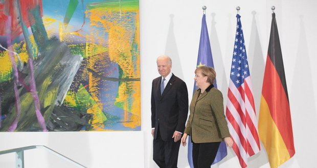 Joe Biden i Angela Merkel